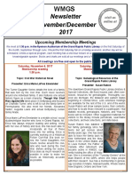 WMGS Nov-Dec 2017 Newsletter