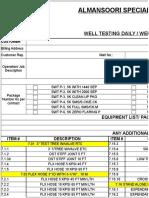 Dsr -Standard Format
