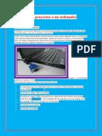 Conectar Un Proyector a Un Ordenador Portátil Usando Un Cable VGAt
