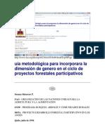 Guia Genero Proceso Forestales