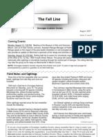 August 2007 Fall Line Newsletter Ocmulgee Audubon Society