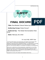 Ghtf Sg5 n4 Post Market Clinical Studies 100218