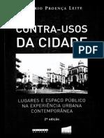 LEITE, Rogerio Proença - Contra-usos Da Cidade