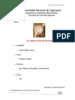 Informe de Elaboracion de Queso Practica