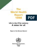 OMS La Salud Mental en El Mundo Informe 1998 Ingles