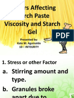 Factors Affecting Starch Paste