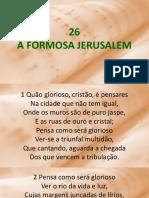HC 26 - Formosa Jerusalem