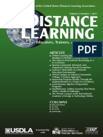Distance learning ... for educators, trainers and leaders, Vol.-8-No.-1-2011-2