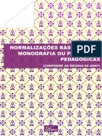 Normalizações Básicas Para Monografias e Propostas Metodológicas