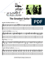 Greatest Beginners Guitar Riffs (Sheet 1)