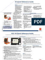 ACU 30 Quick Reference Guide