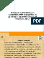 Programa de Capacitacion para operadores