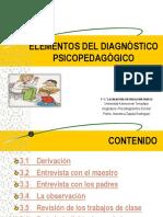 Elementos Psicodiagnóstico Escolar