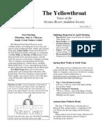 May 2010 Yellowthroat Oconee Rivers Audubon Society