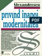 Sorin Alexandrescu - Privind Inapoi, Modernitatea