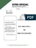 Ley de Discapacidades en Ecuador