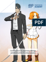 Aso PA Certification in Japanese Manga and Animation Fundamentals (1)