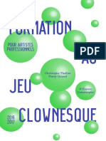 Brochure Interactive - Formation Au Jeu Clownesque Pour Pro -