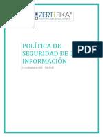 POL-01-03 Politica de Seguridad de La Información