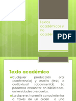 Textos Académicos y No Académicos
