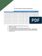 Instructivo Para Diligenciar El Formato de Programación