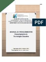 Manual de Procedimientos Tecnologia Educativa 2013 Ultima Version