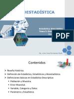 Conferencia 1 Bioestadística Conceptos Generales