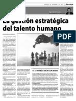 La Gestion Estrategica Del Talento Humano HU