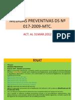 Medidas Prev Ds 017 2009 Mtc.
