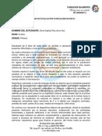 Informe Evaluación Anna Sophia Ruiz de La Hoz