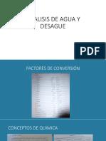 ANALISIS DE AGUA Y DESAGUE