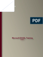 Excel Training - Level 1