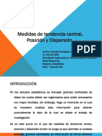 Medidas de Tendencia Central, Posición y Dispersión