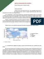 Variação Da Composição Da Atmosfera