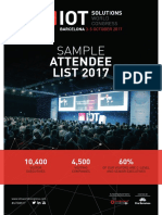 IoTSWC Sample Attendee List 2017