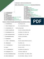 Exercices Nomenclature Correction