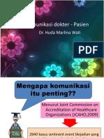 Komunikasi dokter - Pasienank