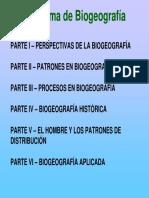 Patrones de Biogeografía
