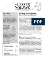 November 2005 Lesser Squawk Newsletter, Charleston Audubon