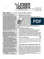 April-May 2006 Lesser Squawk Newsletter, Charleston Audubon