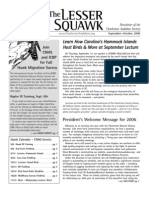 Sept-Oct 2006 Lesser Squawk Newsletter, Charleston Audubon