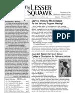 Jan-Feb 2007 Lesser Squawk Newsletter, Charleston Audubon