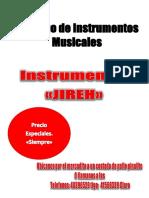 Catalógo Instrumentos