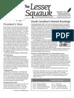 November-December 2008 Lesser Squawk Newsletter, Charleston Audubon