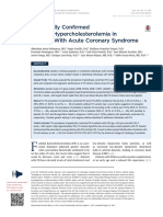 Genetically Confirmed Familial Hypercholesterolemia in Patients in Acute Coronary Syndrome