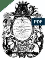 Blavet - Six Sonates Pour Deux Flutes Traversieres Sans Basse, Op.1 (1728)