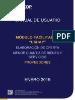 Manual USHAY - Ofertas - Menor Cuantía de Bienes y Servicios - Proveedor
