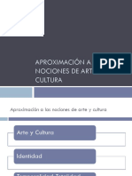 Aproximación a Las Nociones de Arte y Cultura