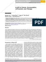 Mutant p53 in Cancer - Accumulation Gain Fo Function and Therapy