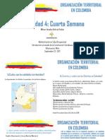 Actividad 4 Organización Territorial en Colombia